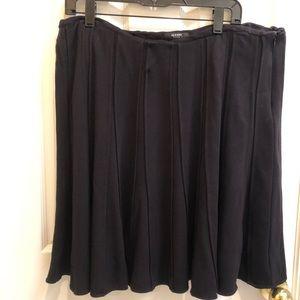 Alfani Women solid knee length flare skirt 14w